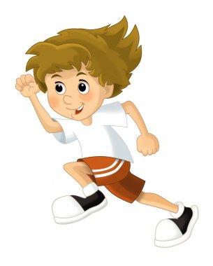 Cartoon child training