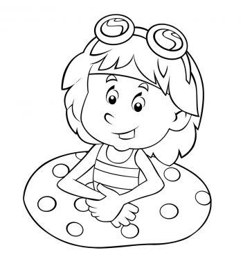 Cartoon child having fun