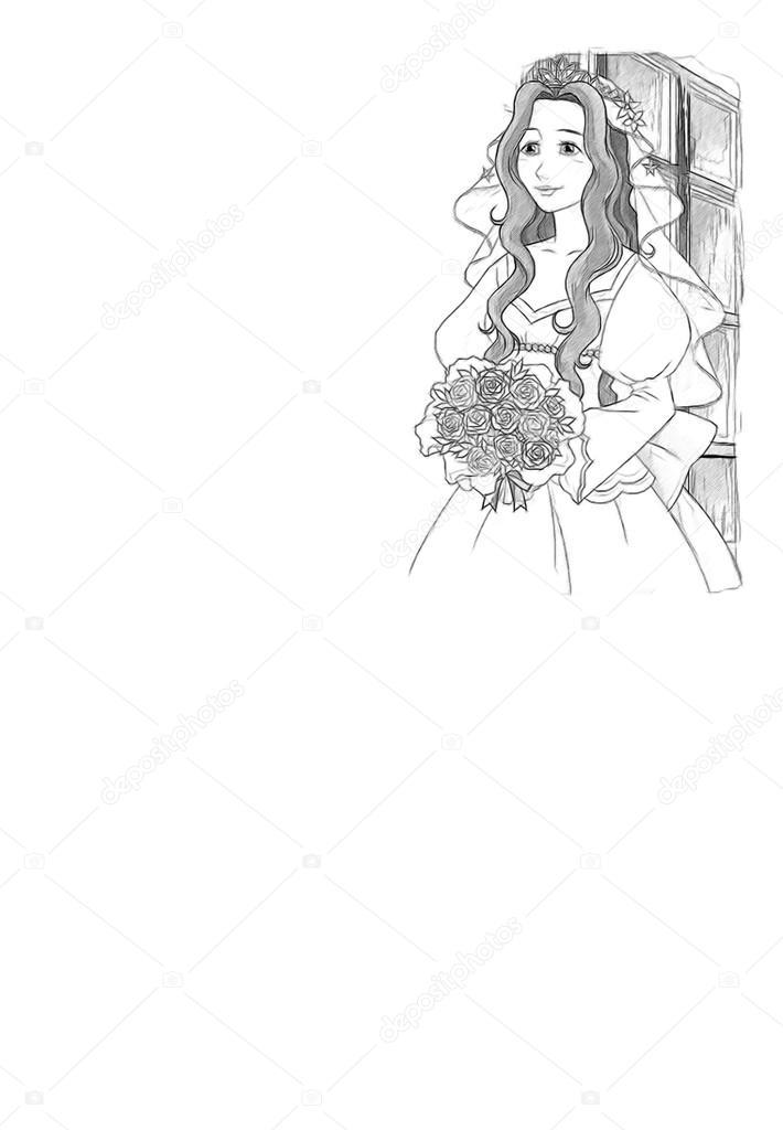 el dibujo para colorear página - estilo artístico — Foto de stock ...