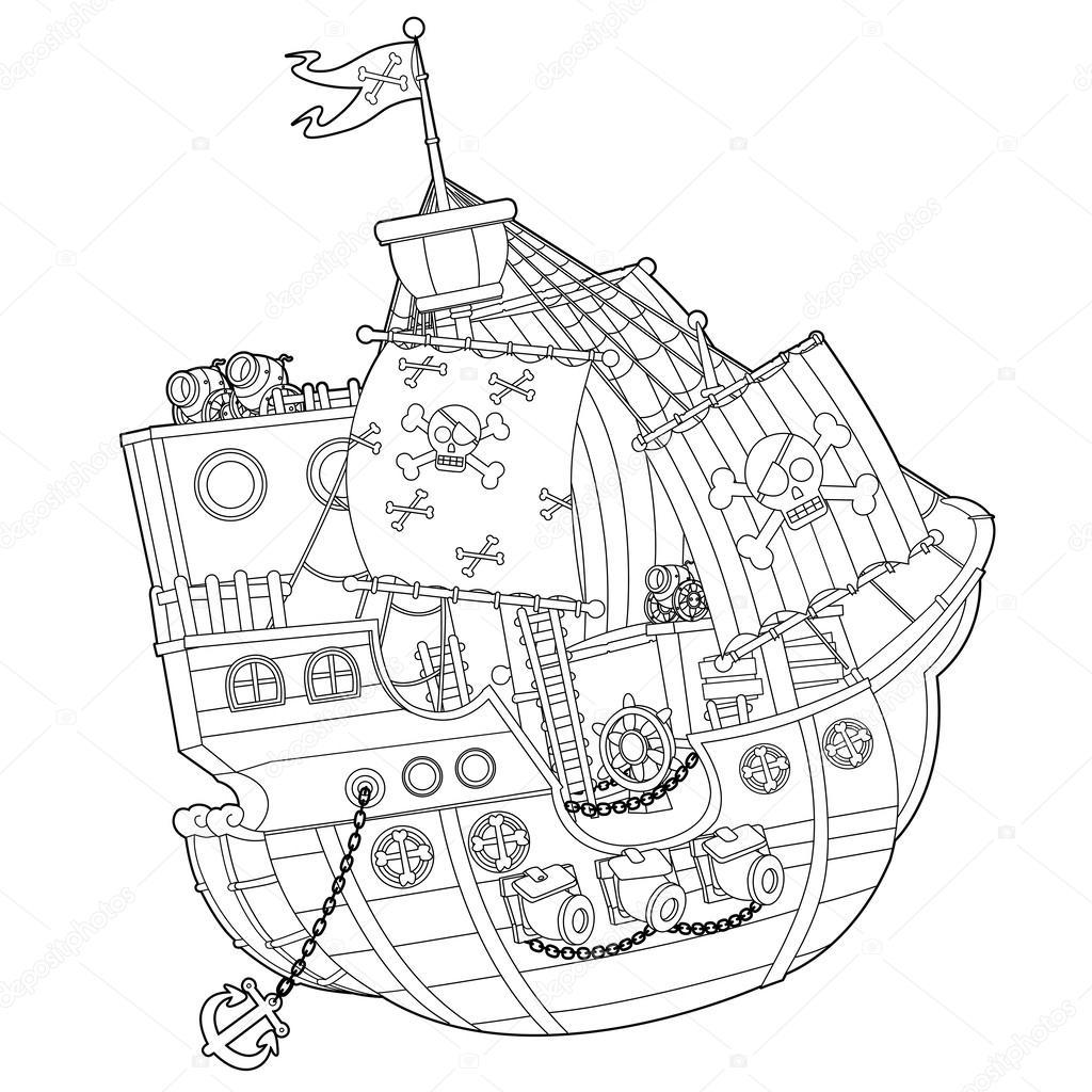 Korsan Gemisi Stok Foto Illustratorhft 38954173