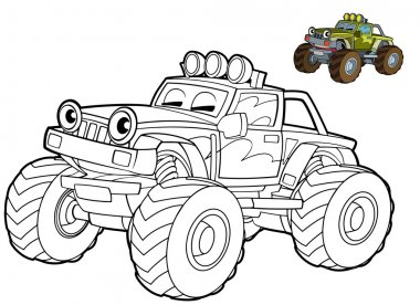 Jeep- coloring page