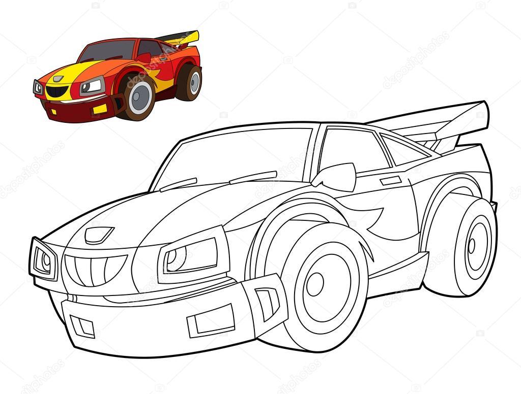 Boyama Sayfası Araba Stok Foto Illustratorhft 39885055