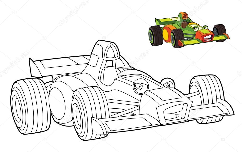 Race Auto Kleurplaat Stockfoto C Illustrator Hft 39885059