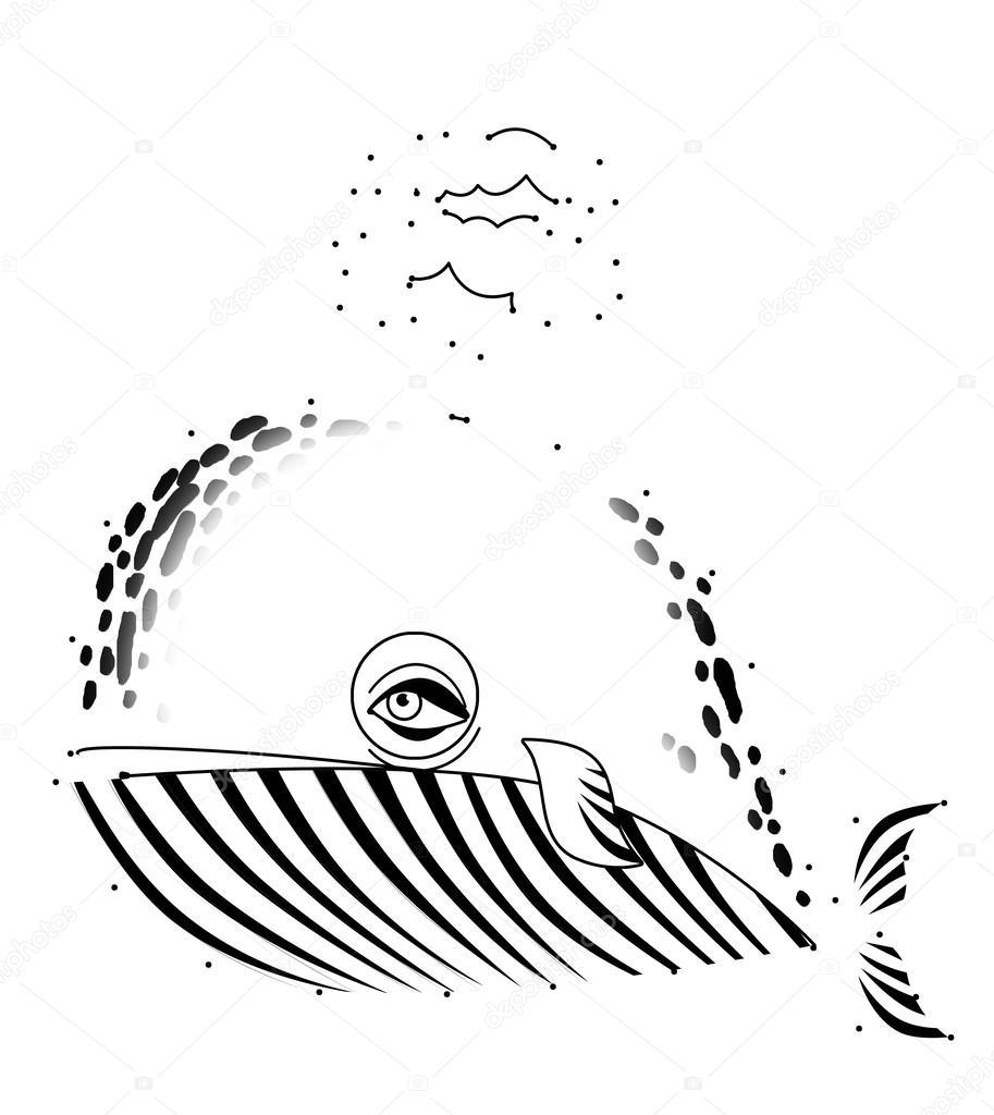 Walvis Kleurplaat Stockfoto C Illustrator Hft 40315413