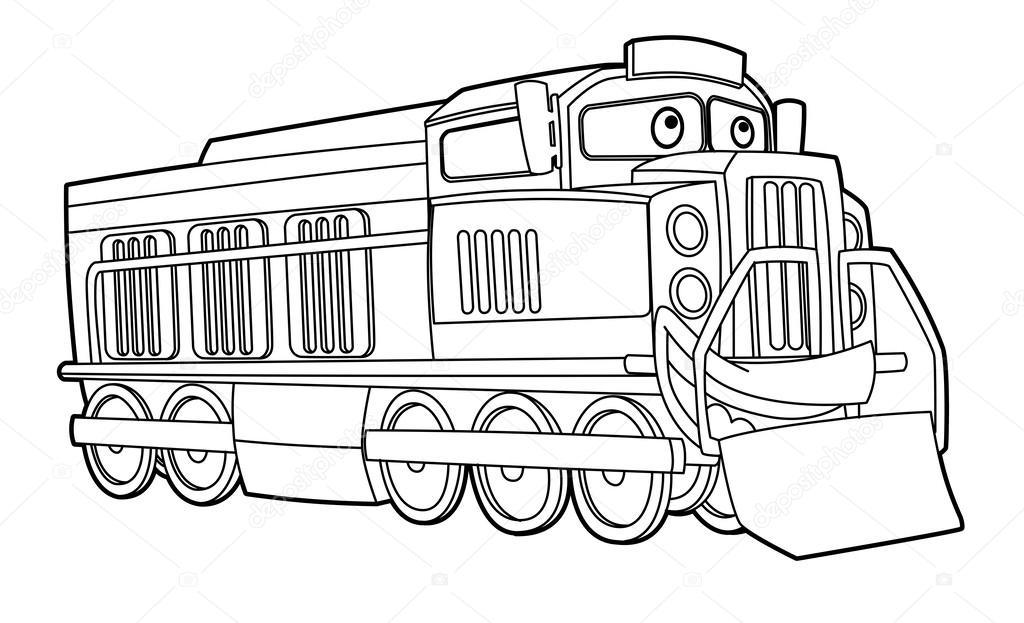 Kleurplaat Trein Stockfoto C Illustrator Hft 40430279