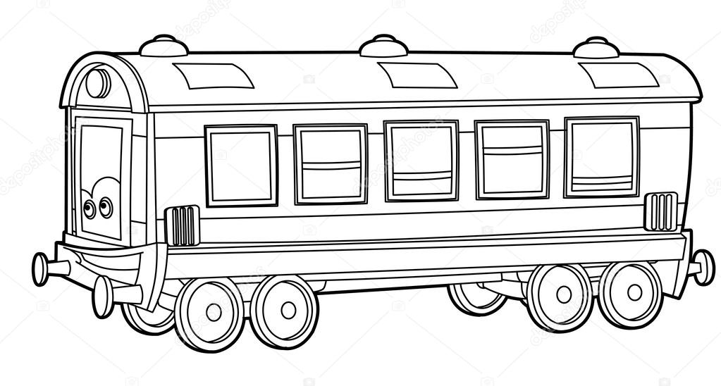 Kleurplaten Voertuigen Trein.Trein Wagen Kleurplaten Pagina Stockfoto C Illustrator Hft 40430551