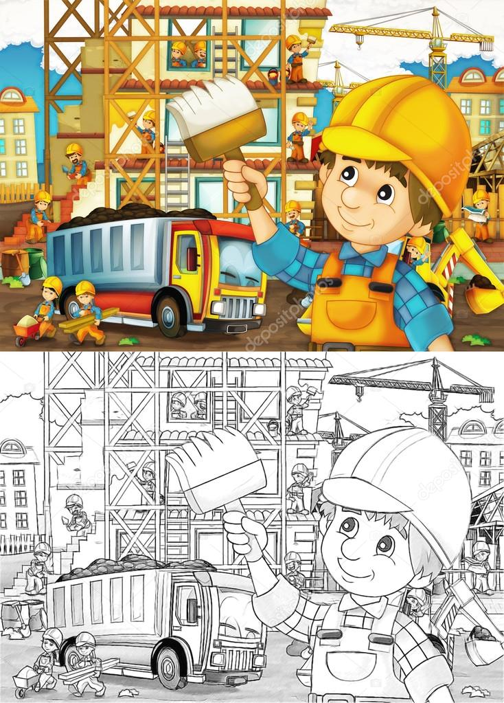 Children on construction site