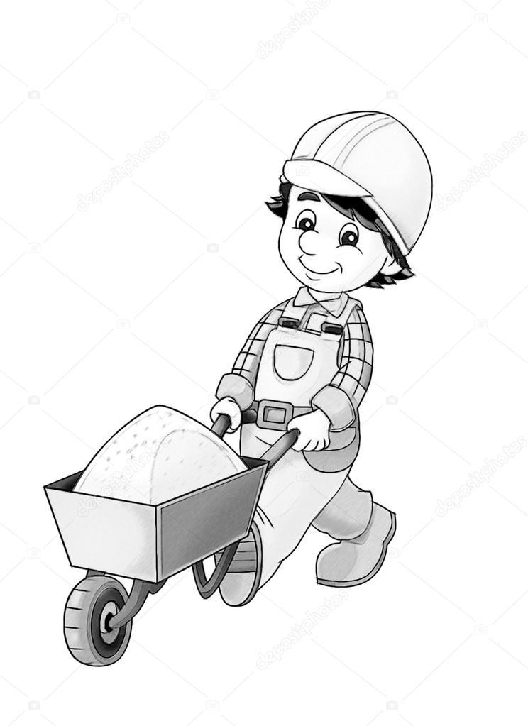 trabajador de la construcción — Foto de stock © illustrator_hft ...