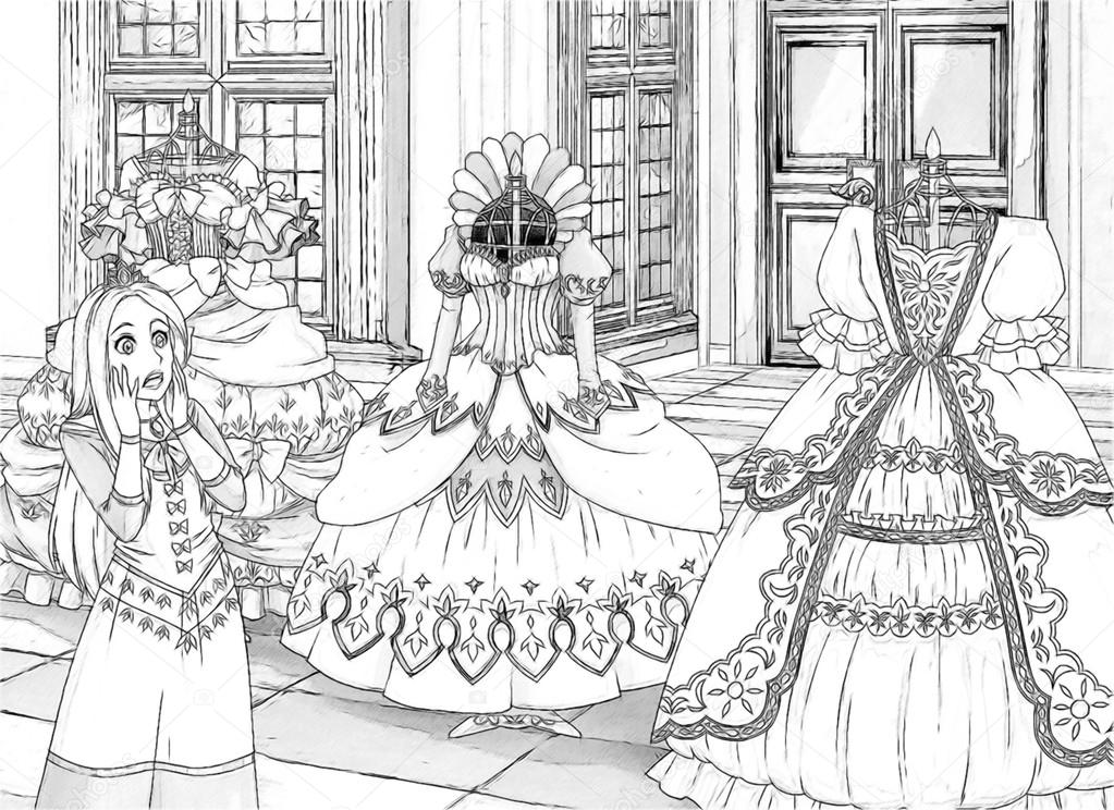 Robot Resim Boyama Sayfası Stok Foto Illustratorhft 47548925