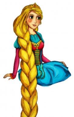Fairytale cartoon character - illustration for the children stock vector