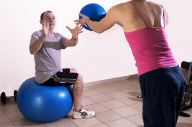 Excersise with a personal trainer