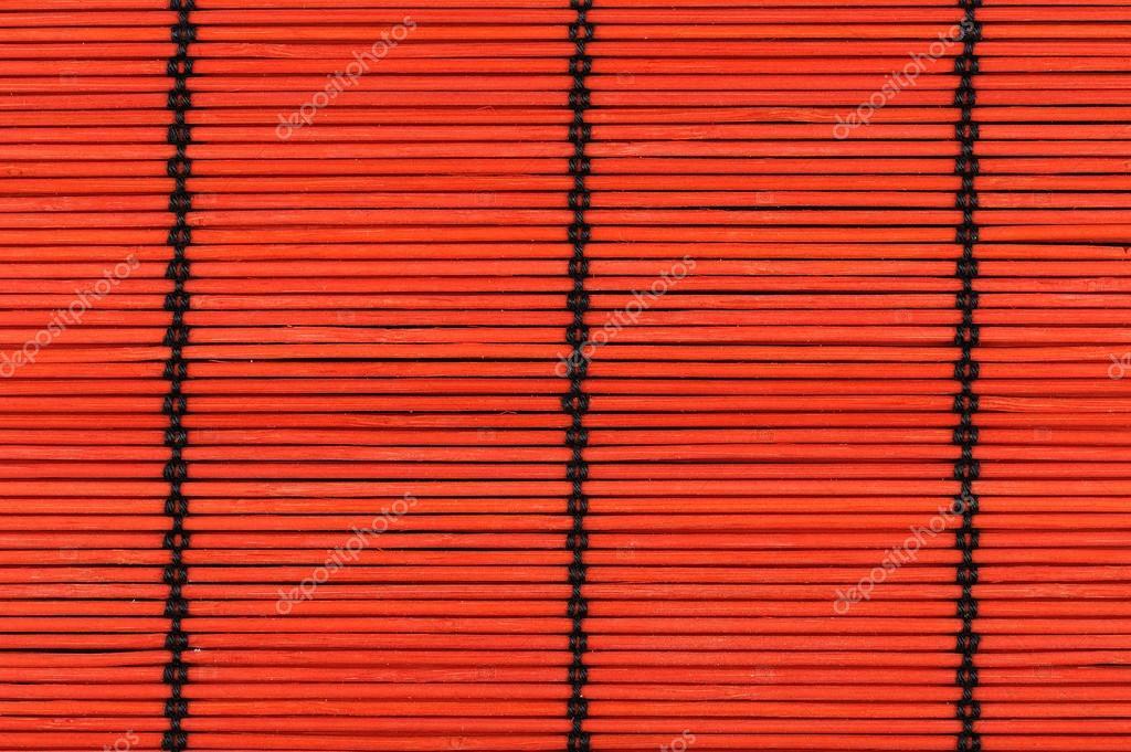 Hintergrund Von Roten Bambus Tischdecke Stockfoto C Soleg 12118639