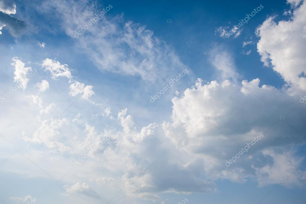 Bright beautiful sky with clouds