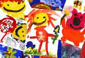 koláž z dětských kreseb