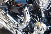Photo bike engine as background