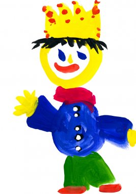 child's drawing. king with the crown