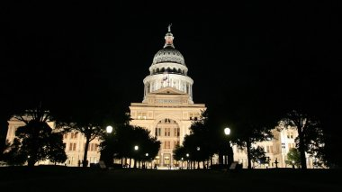 Texas State Capitol Building in Austin at night