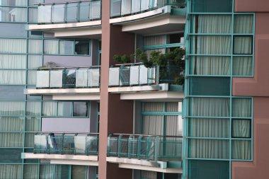 Balconies of luxury condominium