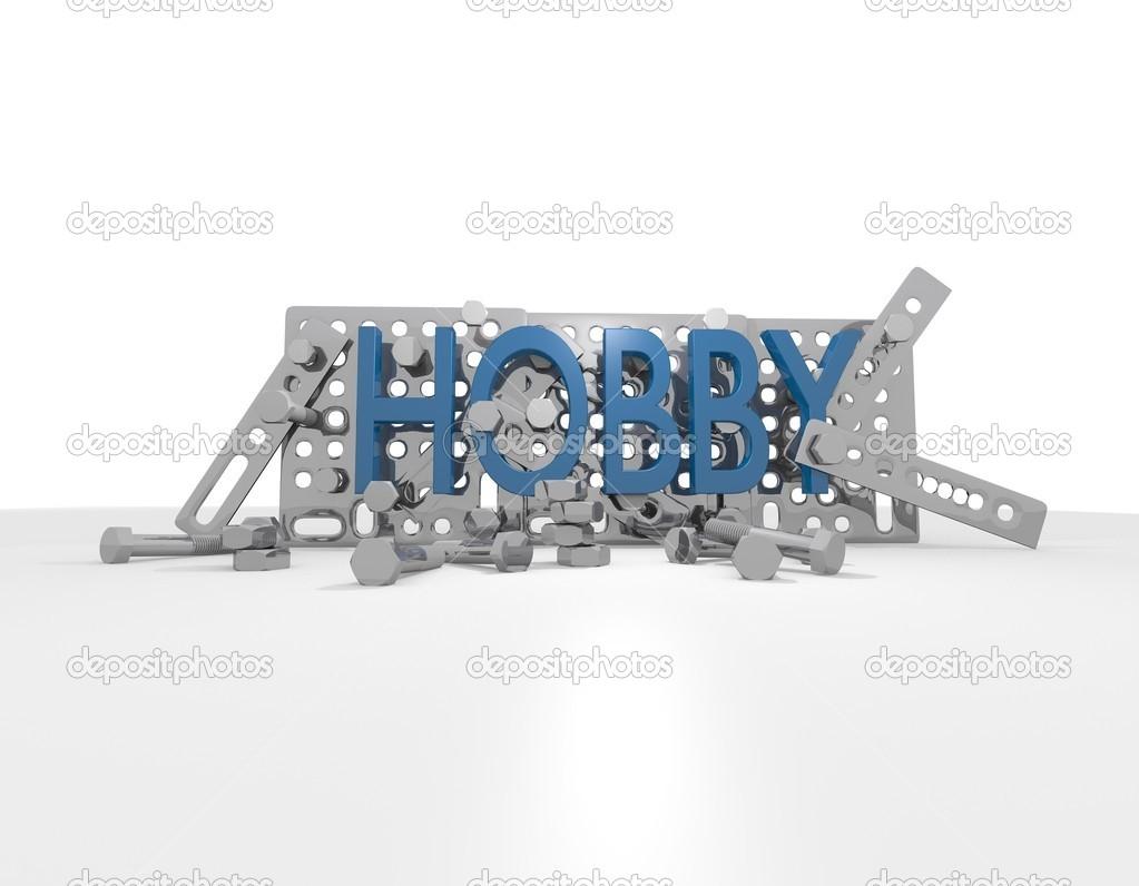 kit de construcción de metal construir palabras Cool azul — Fotos de ...
