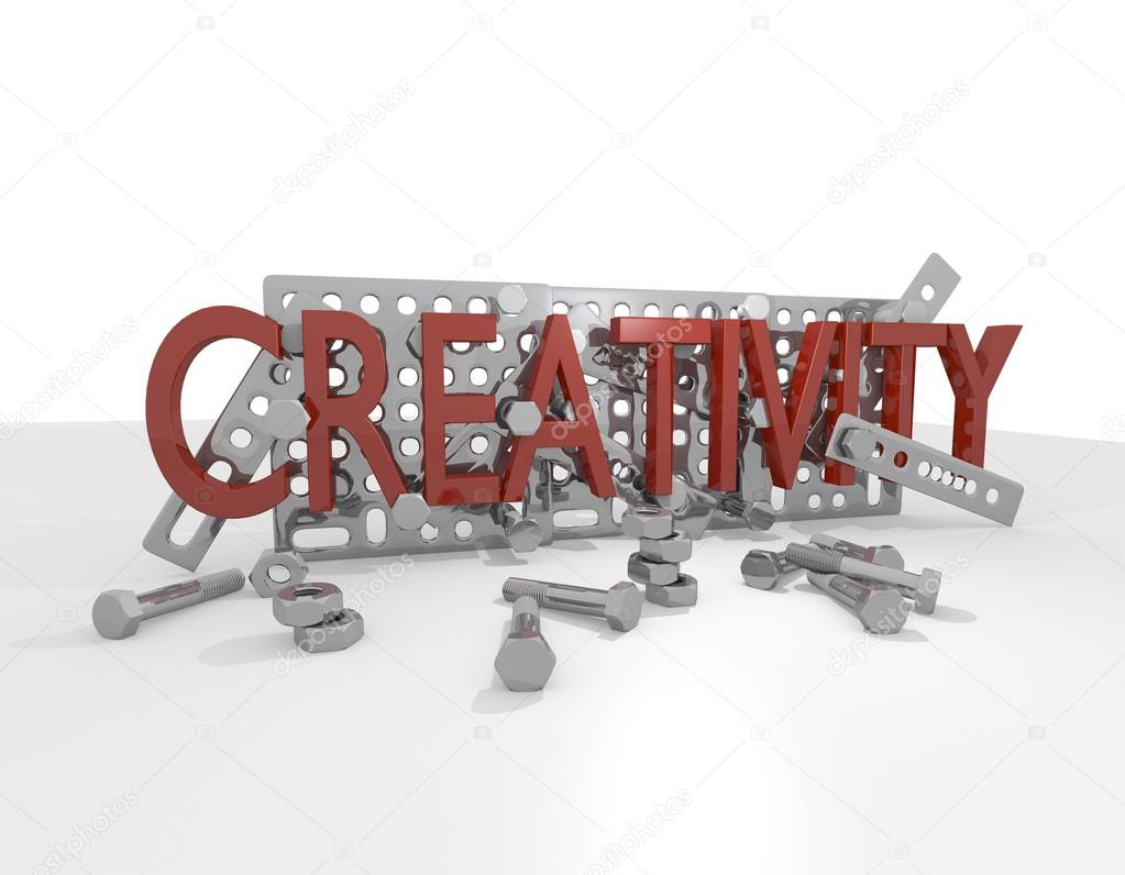 Creative metal screw construction kit