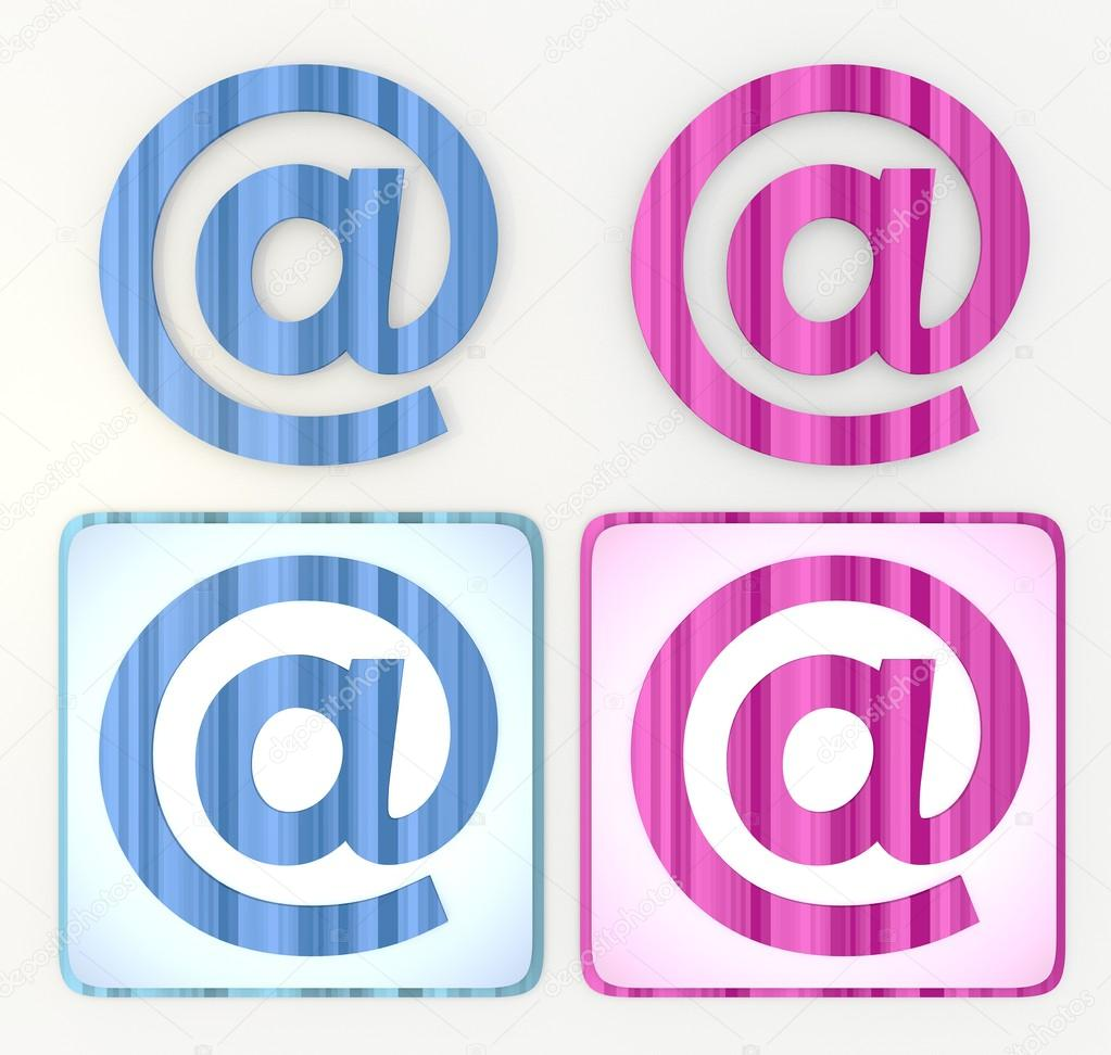 at the rate symbol e-mail icon