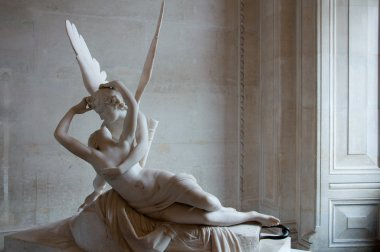 Cupid's kiss at Louvre museum, Paris, France