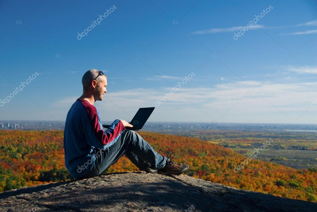 Nature laptop