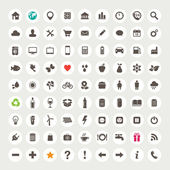 Photo Set of web icons