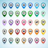 Fotografia set di icone di gps