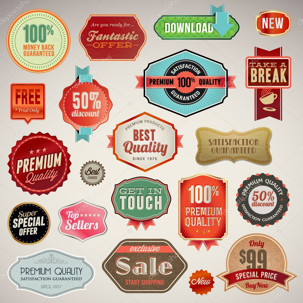 Vector labels and stickers