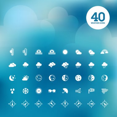 Set of different weather icons clip art vector