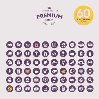 Set of premium shopping icons