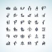 Fotografia set di icone del concetto aziendale
