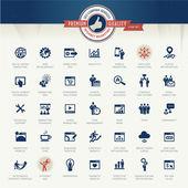 Fotografie Satz von Geschäfts-Ikonen für Internet-Marketing und Dienstleistungen