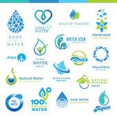 Fotografie Reihe von Wassersymbolen