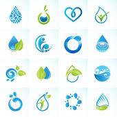 Fotografie Set von Symbolen für Wasser und Natur