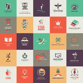 Photo Set of quality designed art and education icons
