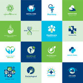 Fotografia set di icone piatte medicale