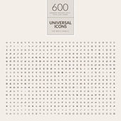 Fotografie Set of universal icons for web and mobile