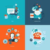 Fotografie Satz flacher Design-Konzept Symbole für Web und Handy-Dienste und Apps