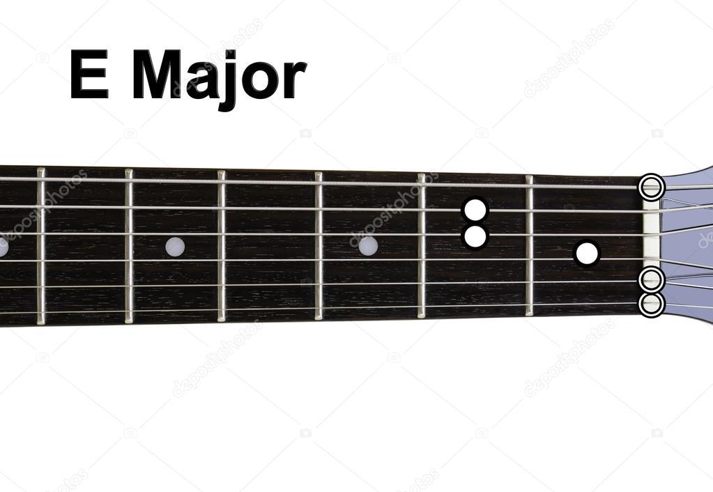 Gitarre Akkorde Diagramme - e-Dur — Stockfoto © Shaycobs #12359131