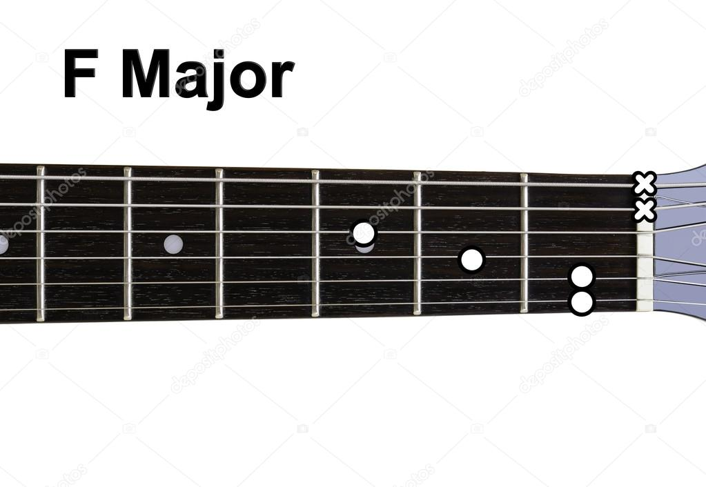 Guitar Chords Diagrams - F Major — Stock Photo © Shaycobs #12359207