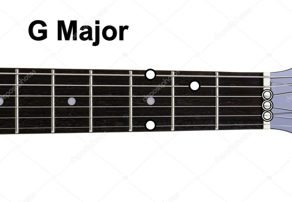 Guitar Chords Diagrams - G Major — Stock Photo © Shaycobs #12359351