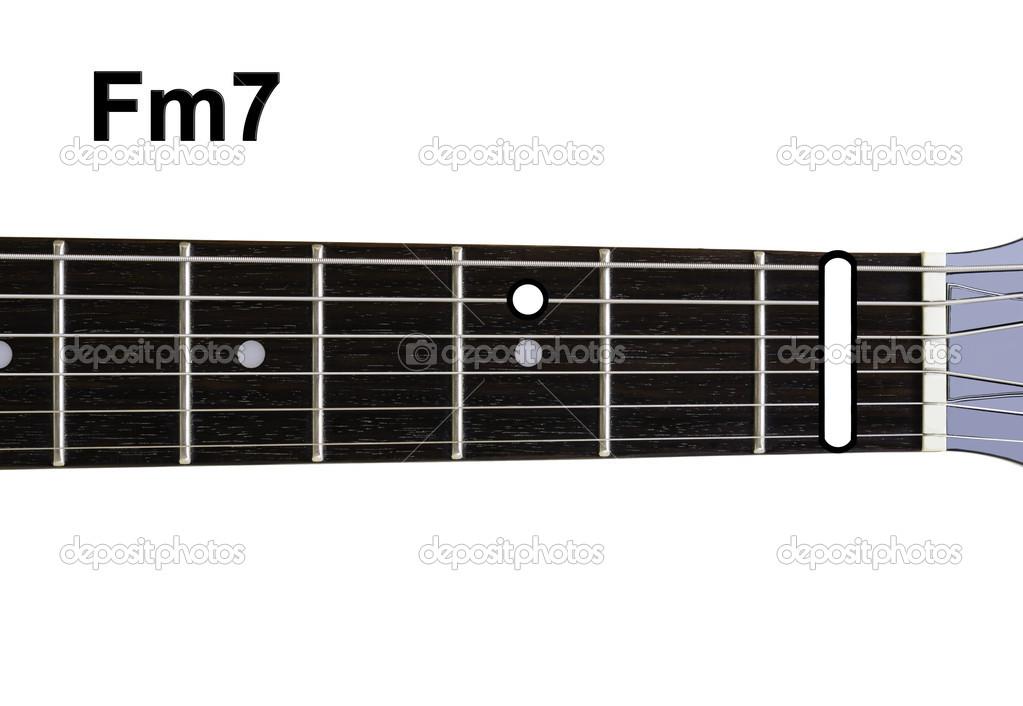 Guitar Chords Diagrams - Fm7 — Stock Photo © Shaycobs #12359418