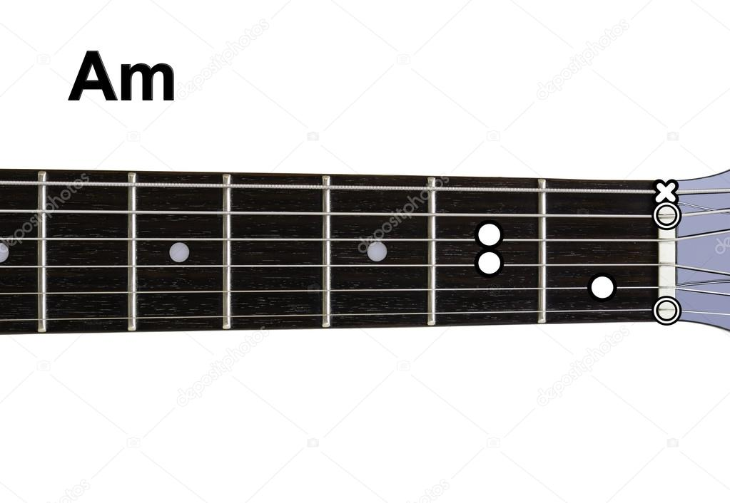 Guitar Chords Diagrams - Am — Stock Photo © Shaycobs #12359849