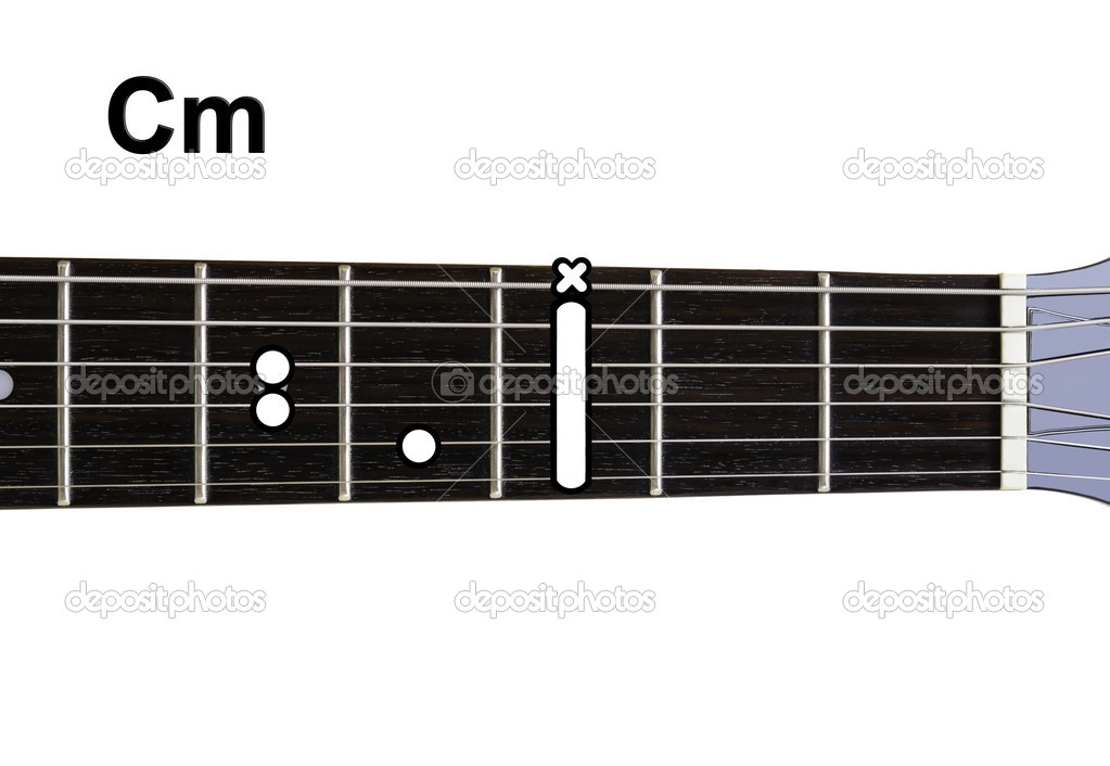 Guitar Chords Diagrams Cm Stock Photo Shaycobs 12360135