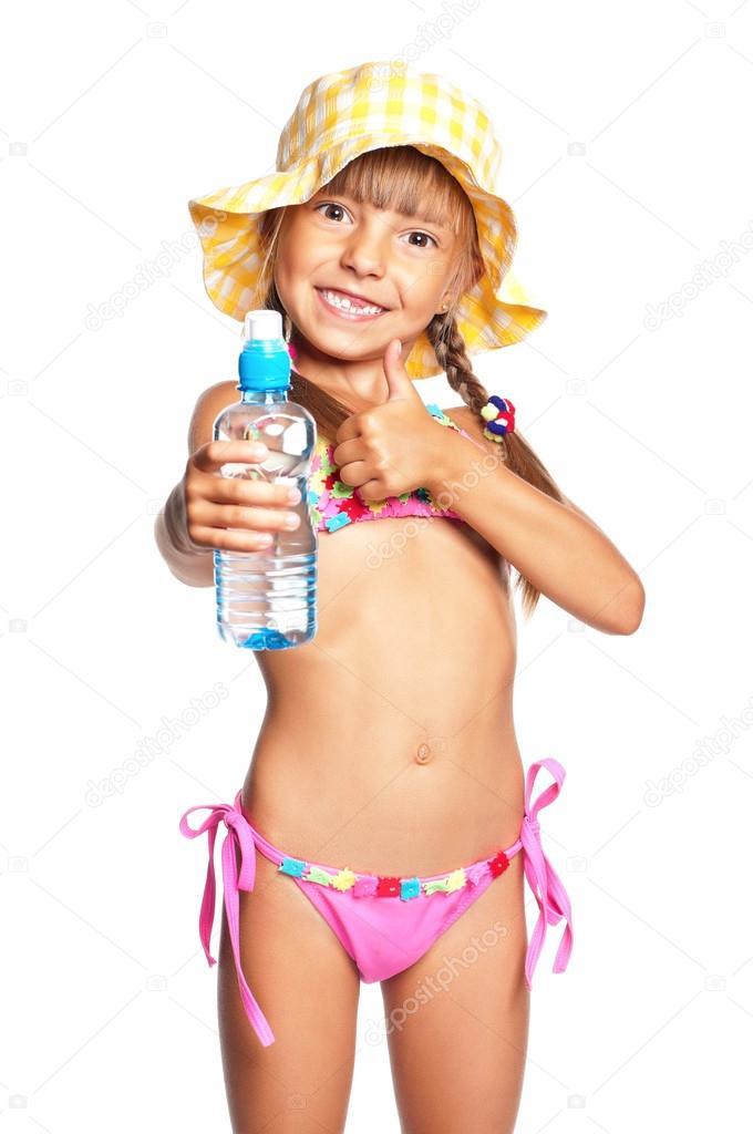 little girl in swimsuit stock photo valiza 21345791