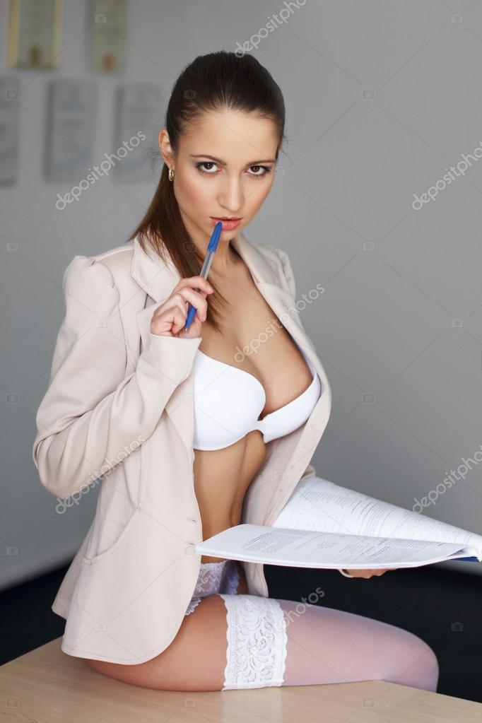 Sexy geschäftsfrau