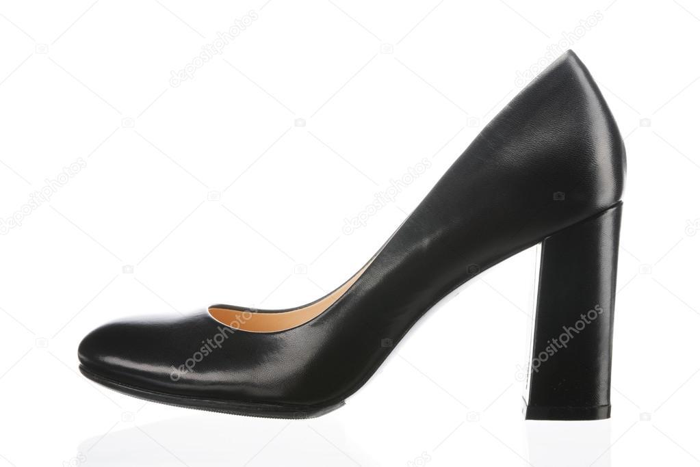 Černé ženy boty izolovaných na bílém pozadí — Fotografie od ... 765c15f8454