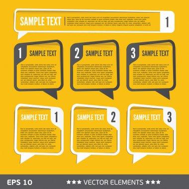 Text sale bubbles. Vector text tags